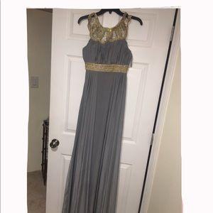 Grey jersey maxi dress